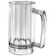 Кружка пивная пластик; 473мл; D=121,H=159мм; прозр.