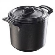 Горшок для запекания с крышкой фарфор; 50мл; черный