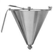 Воронка-дозатор кондит.; сталь нерж.; 1л; D=19,H=18см; металлич.