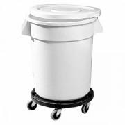 Бак для хранения продуктов, поликарбонат, 75.7л, D=51,H=58,L=60см, белый