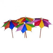 Зонтик на корот. ножке 100шт.фигур.