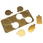 Подложка для конд.изд.9*5.5см 200шт.золото