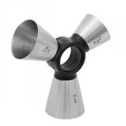 Джиггер 3 в одном(15, 20, 30мл), сталь нерж.,пластик, металлич.,черный