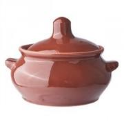 Горшок для запекания «Лакомка» керамика; 500мл; D=11,H=11см; тем.корич.