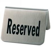 Табличка «Резерв» [2шт] сталь нерж.; H=4.5,L=5.5,B=5см