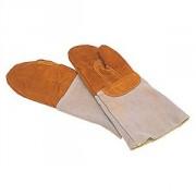 Рукавицы для кондитера,укороченные, кожа, L=27.5,B=14.5см, серый
