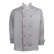 Куртка двубортная с окант. 42разм., твил, серый,бордо