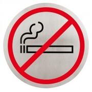 Табличка «Не курить» сталь нерж.; D=16см