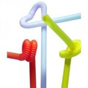 Трубочка декоративная со сгибом L=27,5см [50шт] D=6,H=290,L=125,B=10мм; разноцветн.