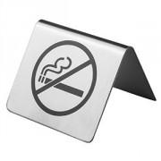 Табличка «Не курить» сталь нерж.; H=4.5,L=6,B=6см