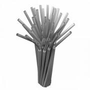 """Трубочки """"Фло"""" [250шт], D=5,L=210мм, серебрян"""