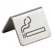 Табличка «Можно курить» сталь нерж.; H=3.5,L=5.5,B=5см