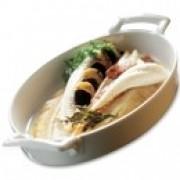 Блюдо овальное, 24х15,5х4 см, фарфор, цвет белый