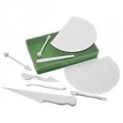 Набор ножей для марципана [9шт]; пластик