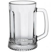 Кружка пивная «Ладья» стекло; 670мл; D=90/100,H=155,B=130мм; прозр.