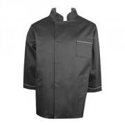 Куртка двубортная 52-54размер, твил, черный