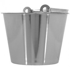 Ведро; сталь нерж.; 10л; D=30,H=28,B=31см; металлич.