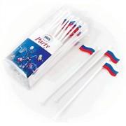 """Мешалка для кокт. """"Российский флаг"""" [40шт], пластик, H=200,L=220/85,B=45мм"""