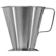 Мерный стакан; сталь нерж.; 500мл; D=11.5/14,H=11.5см; металлич.