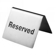 Табличка «Резерв» сталь нерж.; H=4,L=6.5,B=5см